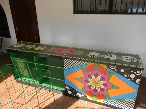 A Bar Kathy painted for Habitat for Humanity in Haiti--
