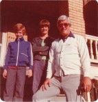 Lynn, Kathy, Daddy, June 10, 1977.  The black gadget in Daddy's left hand will become significant in the story to come.