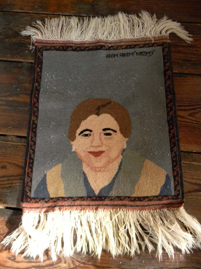 rug with face