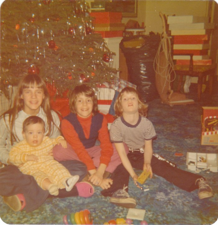 My siblings and I (Christmas 1973).  I'm holding my baby brother on the left.