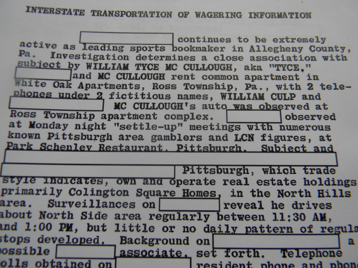 A page from my father's FBI file--