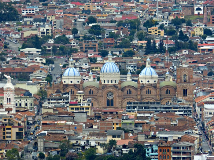 """With the camera I gave Sara as a wedding present, she got an amazing shot of Cuenca's """"new"""" cathedral."""