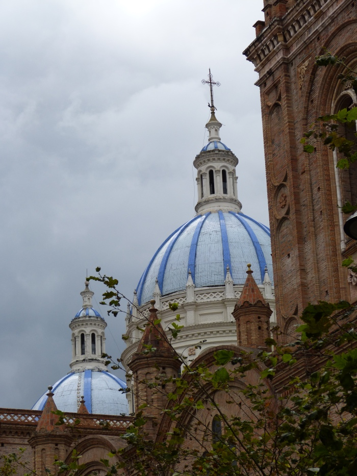 We've fallen in love with cathedrals in downtown Cuenca, Ecuador.