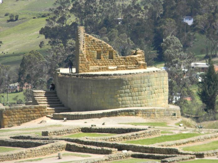 Incan temple at the center of Ingapirca