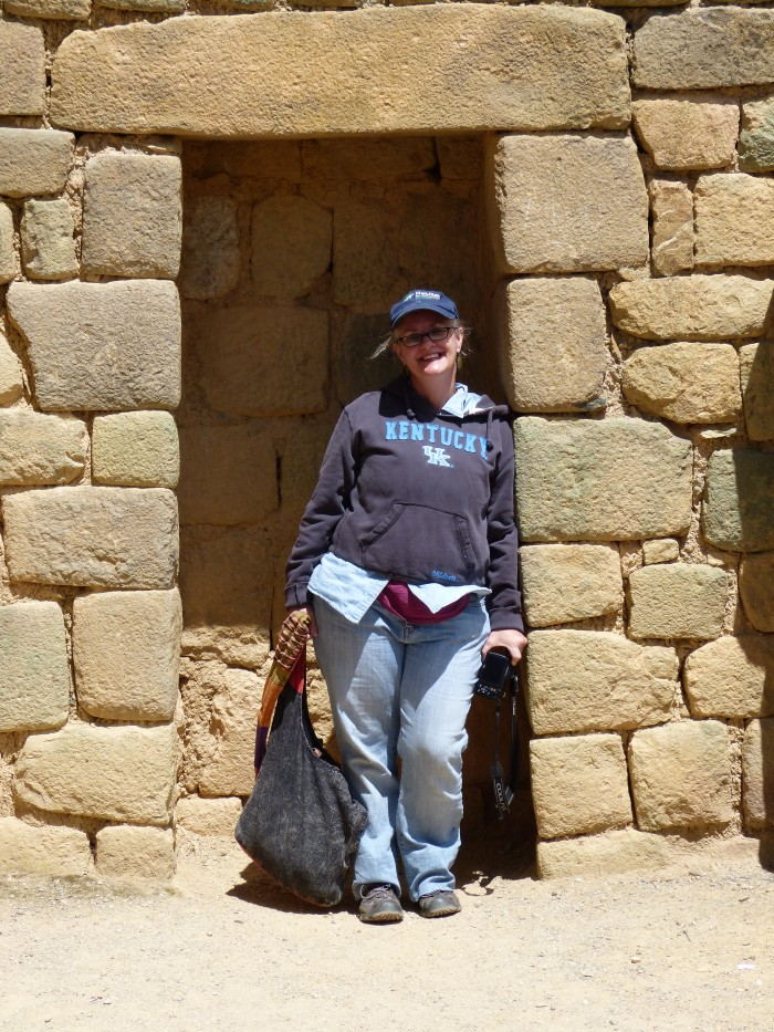 Sara snapped a photo of me in the Incan temple.