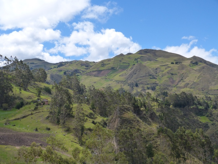 As we were leaving, we had one final look at the Andes near Ingapirca.