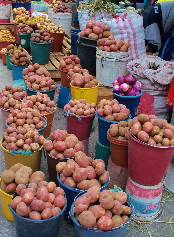 Most baskets of potatoes cost $1.