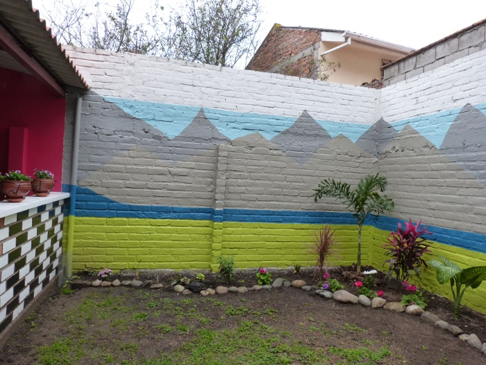 Sara's effort to tame that same garden space and add a mountain view--