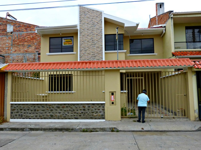 Front of our long-term rental house in Cuenca--