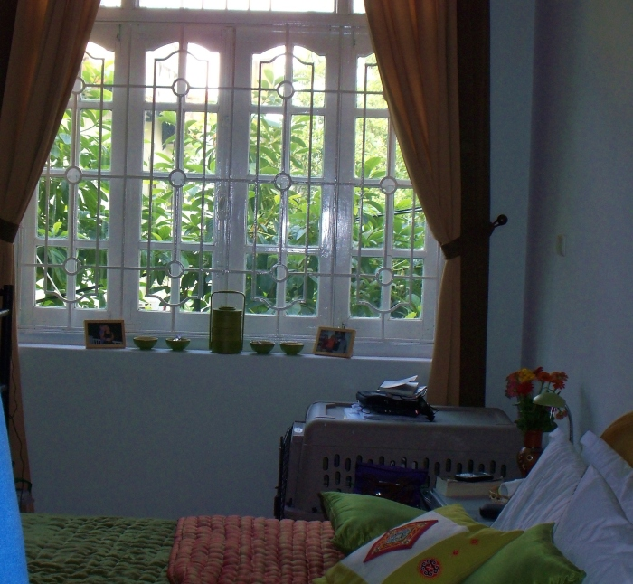 Our bedroom in Hanoi had lovely windows.