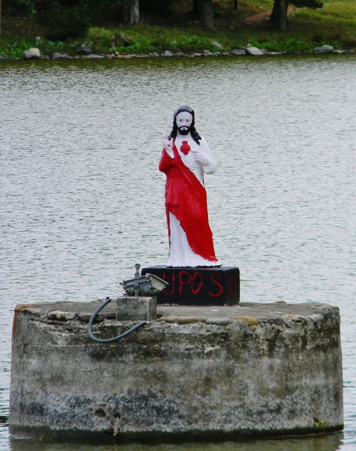 Jesus watches over the lake.  (Kathy's image)