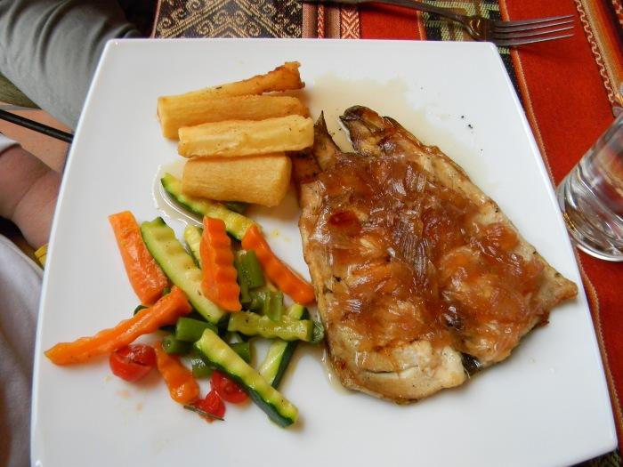 Trout dish at Dos Chorreros--(Kathy's image)