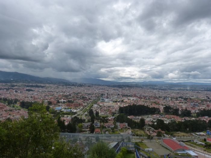 Shades of gray in the clouds above Cuenca--(Sara's image)