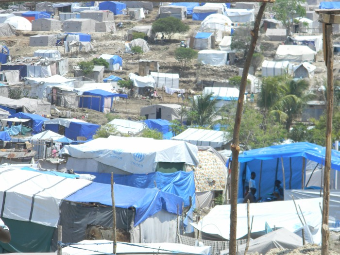 A camp in Port-au-Prince, 3 months after the earthquake--