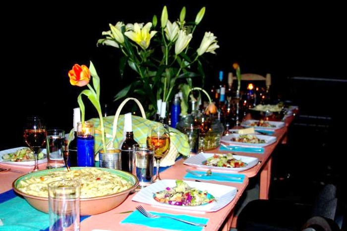 Our table setting for Thanksgiving 2010, Petionville, Haiti