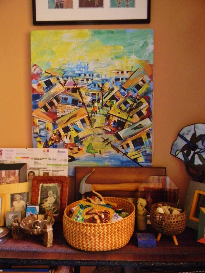 Painting of the Haiti earthquake--