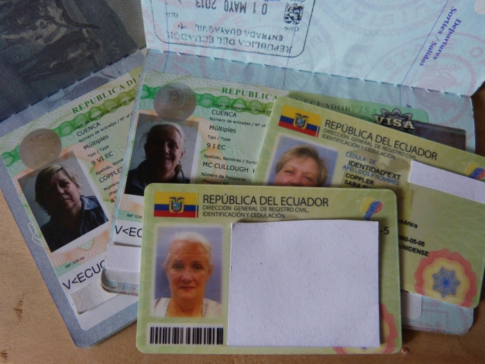 Ecuador residency visas and cedulas--