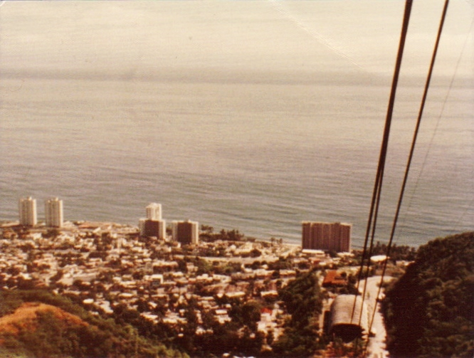 Leaving the port of Macuto, Venezuela on the teleférico,1977--