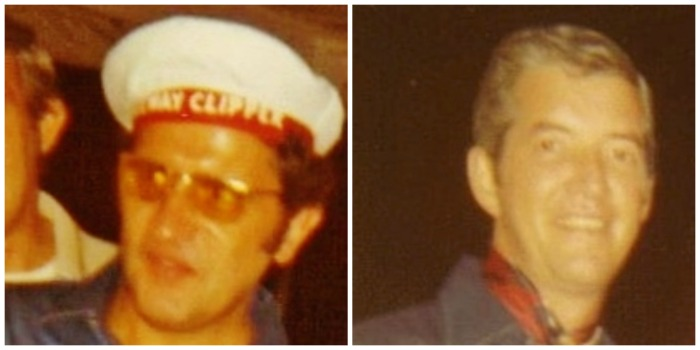 "Bobby ""I"" (L) and my father (R) during the summer of 1970--"