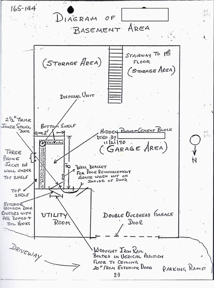 FBI diagram of Iannelli garage