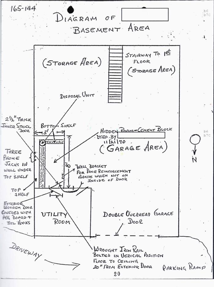 FBI diagram of Iannelli garage