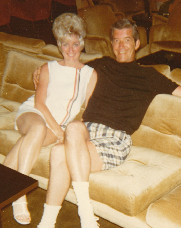 My  parents on a cruise in the early 1970s--