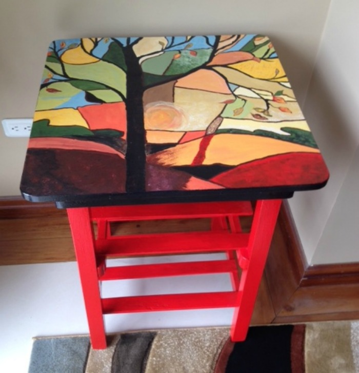 Brenda's finished table!