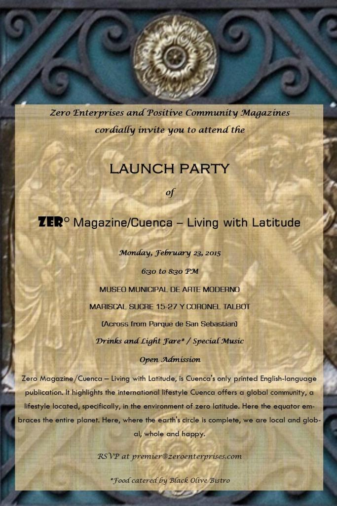 Launch Party Invitation zero magazine