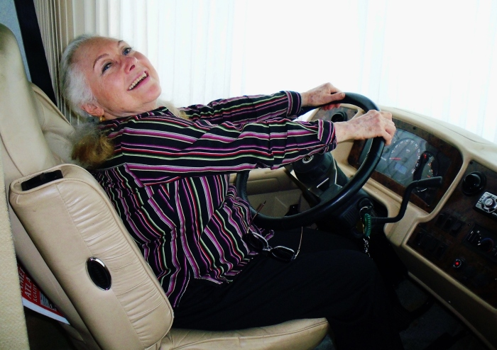 My Godmother piloting her RV (April 2015)